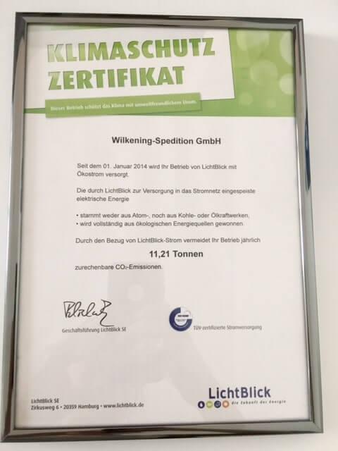Klimaschutz Zertifikat
